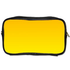 Chrome Yellow To Yellow Gradient Travel Toiletry Bag (Two Sides)