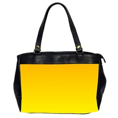 Chrome Yellow To Yellow Gradient Oversize Office Handbag (Two Sides)