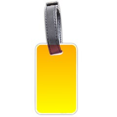 Chrome Yellow To Yellow Gradient Luggage Tag (Two Sides)