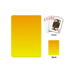 Chrome Yellow To Yellow Gradient Playing Cards (Mini)