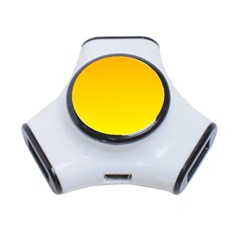 Chrome Yellow To Yellow Gradient 3 Port Usb Hub