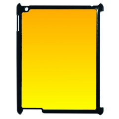 Chrome Yellow To Yellow Gradient Apple iPad 2 Case (Black)