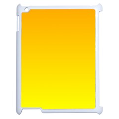 Chrome Yellow To Yellow Gradient Apple iPad 2 Case (White)