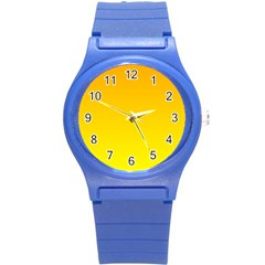 Chrome Yellow To Yellow Gradient Plastic Sport Watch (Small)