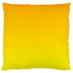 Chrome Yellow To Yellow Gradient Large Cushion Case (two Sides)