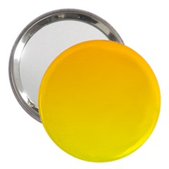 Chrome Yellow To Yellow Gradient 3  Handbag Mirror