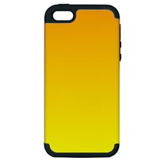 Chrome Yellow To Yellow Gradient Apple iPhone 5 Hardshell Case (PC+Silicone)