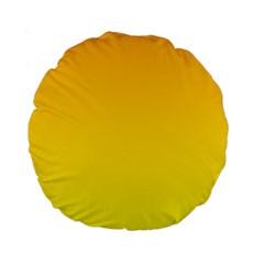 Chrome Yellow To Yellow Gradient 15  Premium Round Cushion