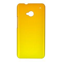 Chrome Yellow To Yellow Gradient HTC One M7 Hardshell Case