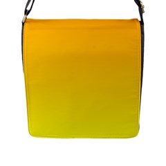 Chrome Yellow To Yellow Gradient Flap Closure Messenger Bag (Large)