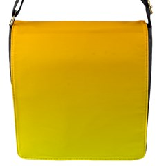 Chrome Yellow To Yellow Gradient Flap Closure Messenger Bag (small)