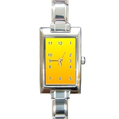 Yellow To Chrome Yellow Gradient Rectangular Italian Charm Watch