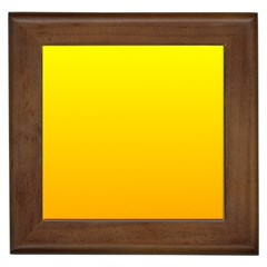 Yellow To Chrome Yellow Gradient Framed Ceramic Tile