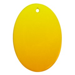 Yellow To Chrome Yellow Gradient Oval Ornament