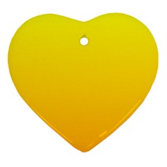 Yellow To Chrome Yellow Gradient Heart Ornament