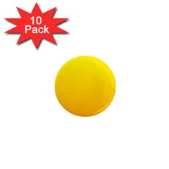 Yellow To Chrome Yellow Gradient 1  Mini Button Magnet (10 pack)