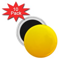 Yellow To Chrome Yellow Gradient 1 75  Button Magnet (10 Pack)