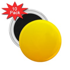 Yellow To Chrome Yellow Gradient 2.25  Button Magnet (10 pack)