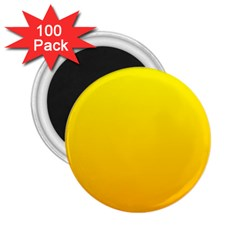 Yellow To Chrome Yellow Gradient 2 25  Button Magnet (100 Pack)