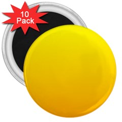 Yellow To Chrome Yellow Gradient 3  Button Magnet (10 pack)
