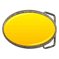 Yellow To Chrome Yellow Gradient Belt Buckle (Oval)