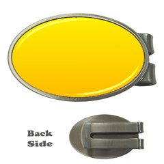 Yellow To Chrome Yellow Gradient Money Clip (Oval)