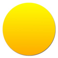 Yellow To Chrome Yellow Gradient Magnet 5  (round)