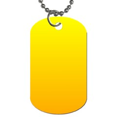 Yellow To Chrome Yellow Gradient Dog Tag (one Sided)