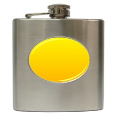 Yellow To Chrome Yellow Gradient Hip Flask
