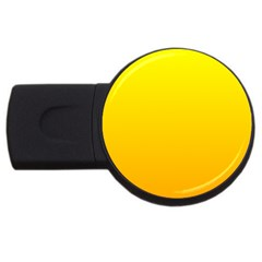 Yellow To Chrome Yellow Gradient 2gb Usb Flash Drive (round)