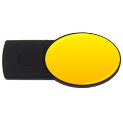 Yellow To Chrome Yellow Gradient 1GB USB Flash Drive (Oval)