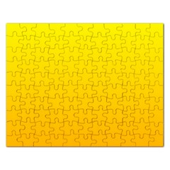 Yellow To Chrome Yellow Gradient Jigsaw Puzzle (Rectangle)