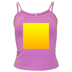 Yellow To Chrome Yellow Gradient Spaghetti Top (Colored)