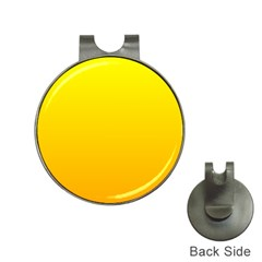 Yellow To Chrome Yellow Gradient Hat Clip with Golf Ball Marker
