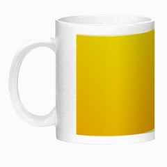 Yellow To Chrome Yellow Gradient Glow in the Dark Mug