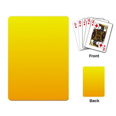 Yellow To Chrome Yellow Gradient Playing Cards Single Design