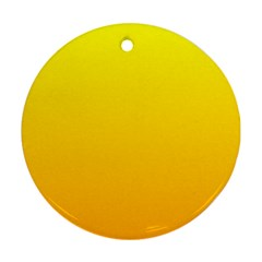 Yellow To Chrome Yellow Gradient Round Ornament (Two Sides)