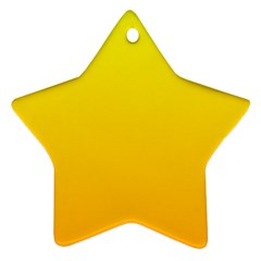 Yellow To Chrome Yellow Gradient Star Ornament (Two Sides)