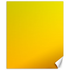 Yellow To Chrome Yellow Gradient Canvas 8  X 10  (unframed)