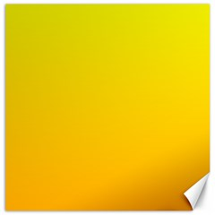 Yellow To Chrome Yellow Gradient Canvas 12  x 12  (Unframed)