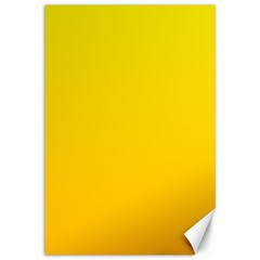 Yellow To Chrome Yellow Gradient Canvas 12  x 18  (Unframed)