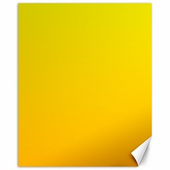 Yellow To Chrome Yellow Gradient Canvas 16  X 20  (unframed)