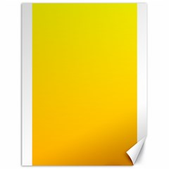 Yellow To Chrome Yellow Gradient Canvas 18  x 24  (Unframed)