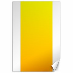 Yellow To Chrome Yellow Gradient Canvas 20  X 30  (unframed)