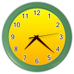 Yellow To Chrome Yellow Gradient Wall Clock (color)