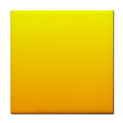 Yellow To Chrome Yellow Gradient Face Towel
