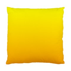Yellow To Chrome Yellow Gradient Cushion Case (two Sides)
