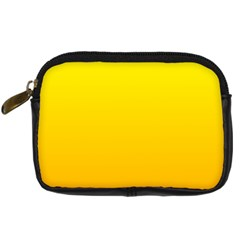 Yellow To Chrome Yellow Gradient Digital Camera Leather Case