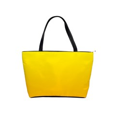Yellow To Chrome Yellow Gradient Large Shoulder Bag