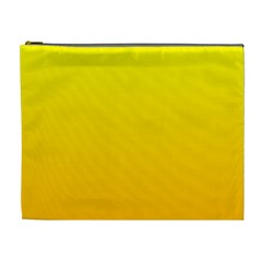 Yellow To Chrome Yellow Gradient Cosmetic Bag (XL)